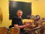 Gary on my new Gretsch drums Dec 9th 2007l.JPG