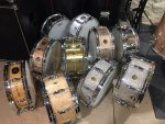 Gretsch snares as of February 2020.JPG