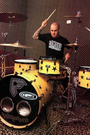 travis barker drum set. ~Josh arker professional dirt